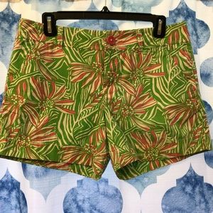 Lilly Pulitzer bright pink and green shorts